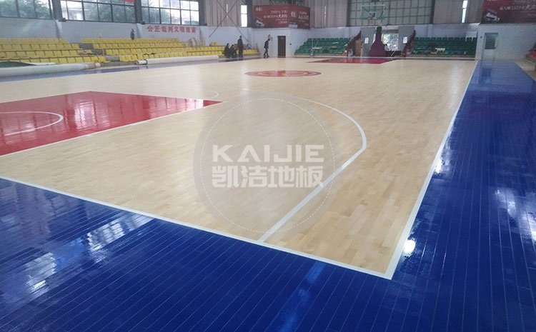 江西宜春公路局体育馆木地板项目案例——凯洁地板