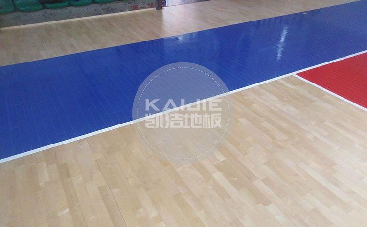 江西宜春公路局体育馆木地板项目案例——篮球馆木地板厂家
