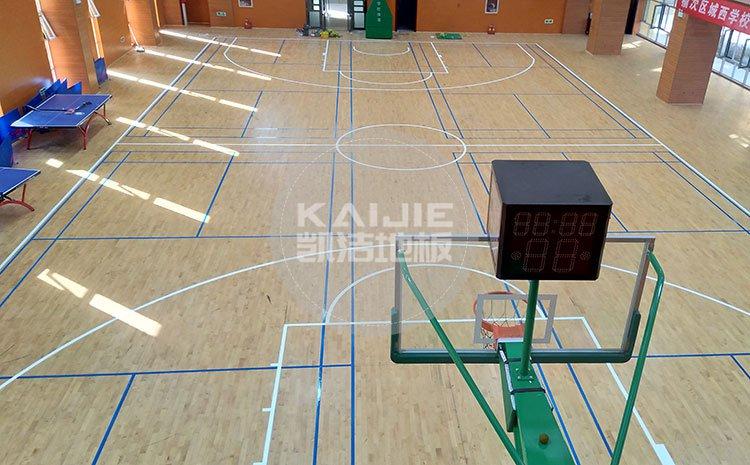 山西晋中榆次小学体育馆木地板项目——学校运动地板厂家