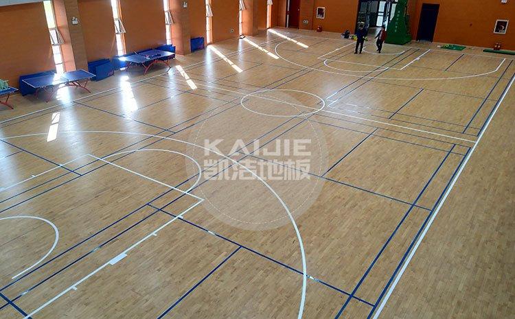山西晋中榆次小学体育馆木地板项目——体育馆木地板厂家