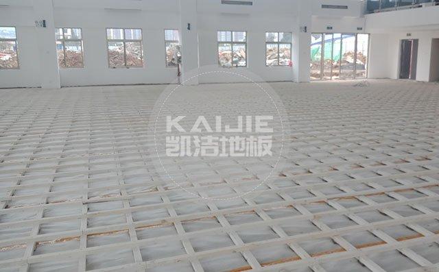 室内体育馆木地板施工哪家专业——凯洁地板