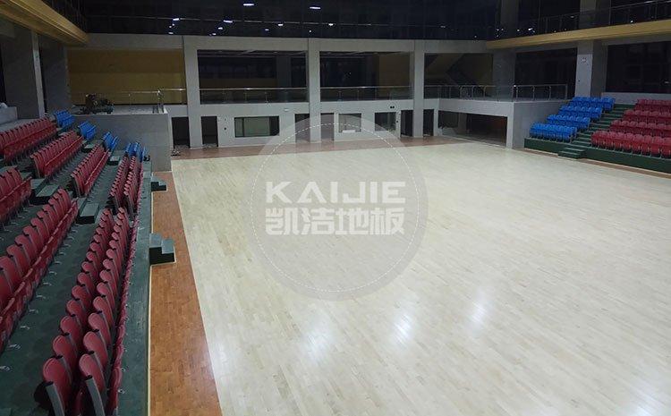 篮球场馆木地板生产厂家——凯洁地板