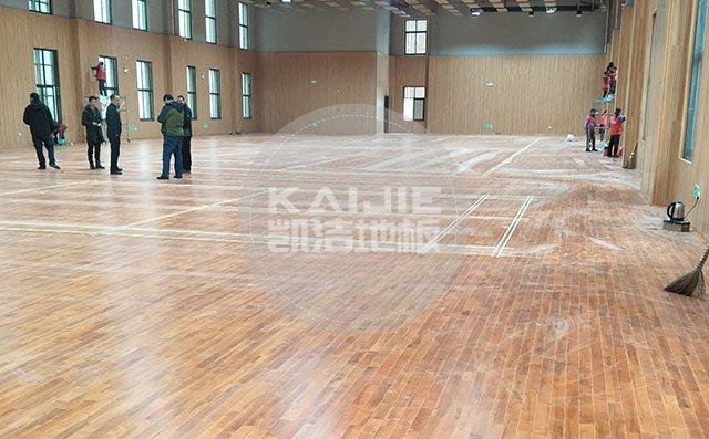 体育场馆木地板怎么进行定期维护——凯洁地板