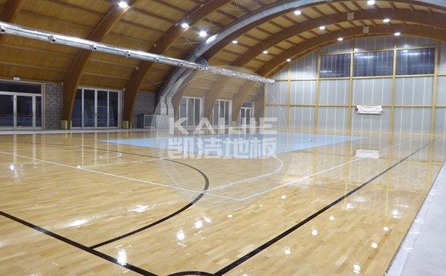 北京体育馆木地板翻新哪家技术好——凯洁地板