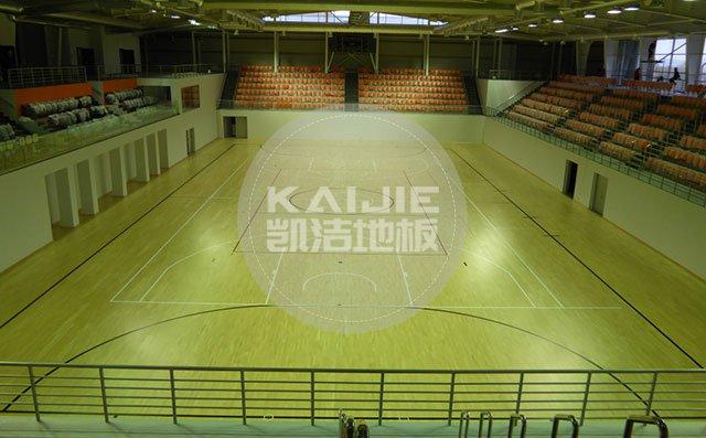 体育馆运动木地板铺装过程需要注意什么——凯洁地板