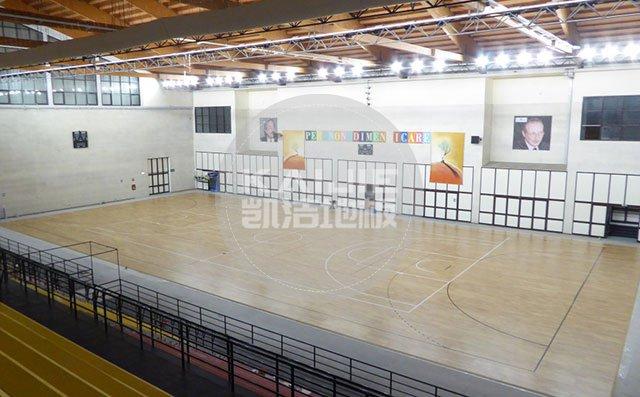 体育馆运动木地板施工前后需要做什么——凯洁地板