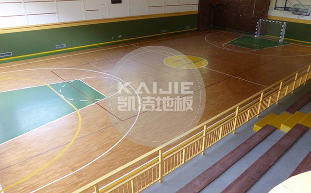 体育运动场馆木地板伸缩缝怎么处理比较好——凯洁地板