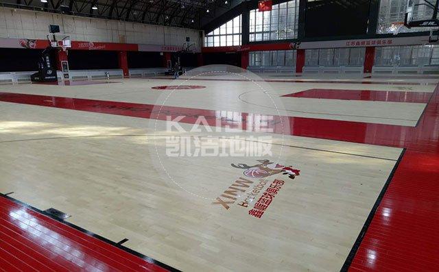 枫木运动地板会变色吗——篮球馆木地板厂家