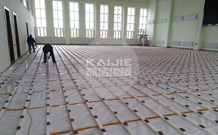 上饶排球馆木地板厂家有哪些——凯洁地板