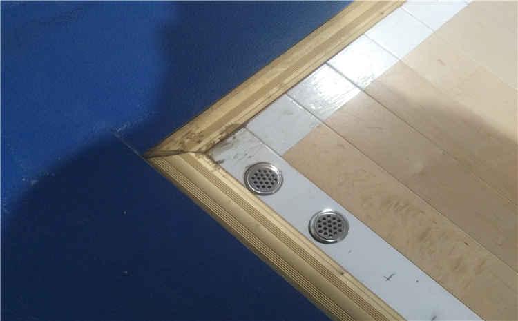 山东宇信公司员工活动中心篮球木地板项目