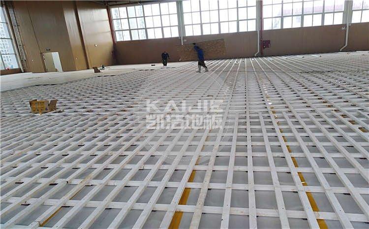 河南南阳市中学体育馆木地板项目