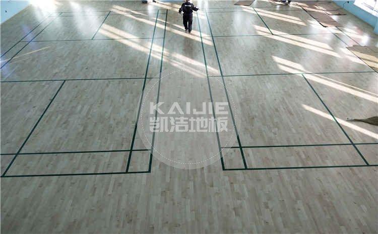 辽宁锦州羽毛球馆运动木地板项目案例图片