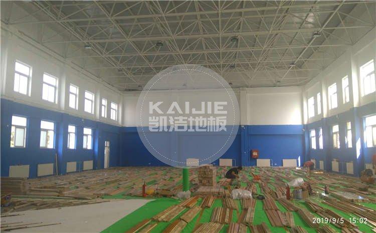 北京西城中学体育馆运动木地板项目图片