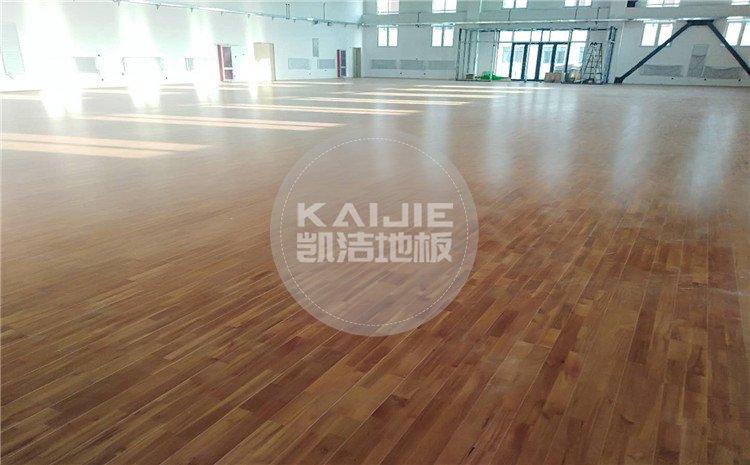 河北唐山芦台农场厂部中小学体育馆木地板案例