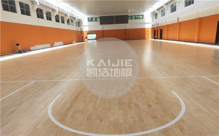广州天河区长大公路培训学校篮球馆木地板案例-凯洁体育地板