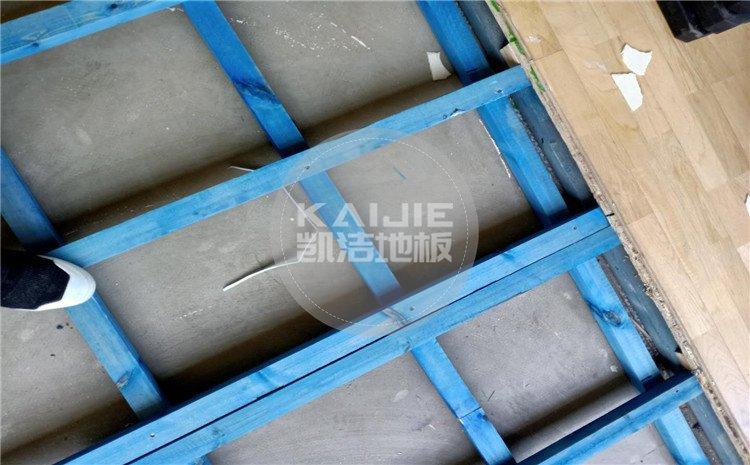 山西运城财经学校羽毛球馆木地板案例-凯洁体育地板