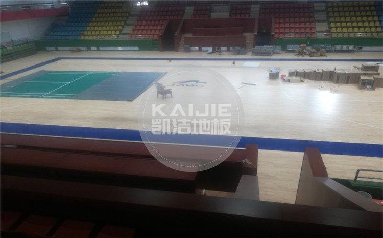山西晋城凤凰山煤矿体育馆木地板——凯洁体育地板