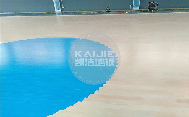 云南昆明五华区青少年宫篮球馆木地板——凯洁体育地板