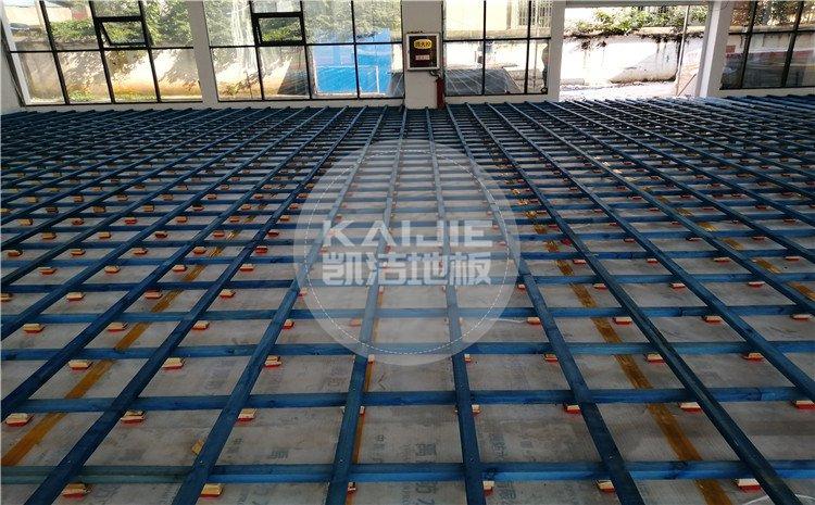 江西九江都昌第五小学体育馆木地板案例—凯洁体育木地板厂家