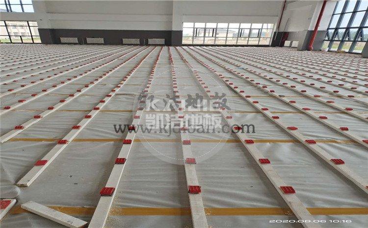 徐州黄集机场体育馆木地板项目-凯洁体育木地板厂家