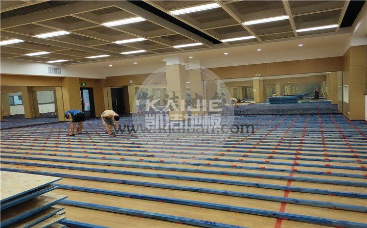 凯洁杭州高级中学钱江校区形体房木地板项目-凯洁体育木地板厂家