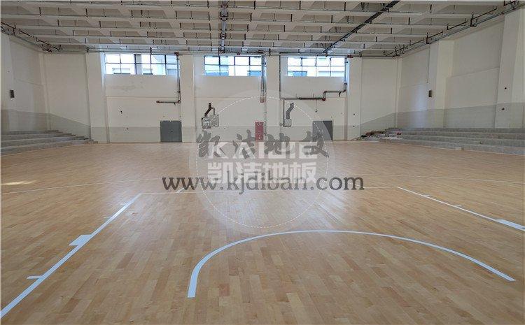 四川绵阳实验中学体育馆木地板项目-凯洁体育木地板厂家