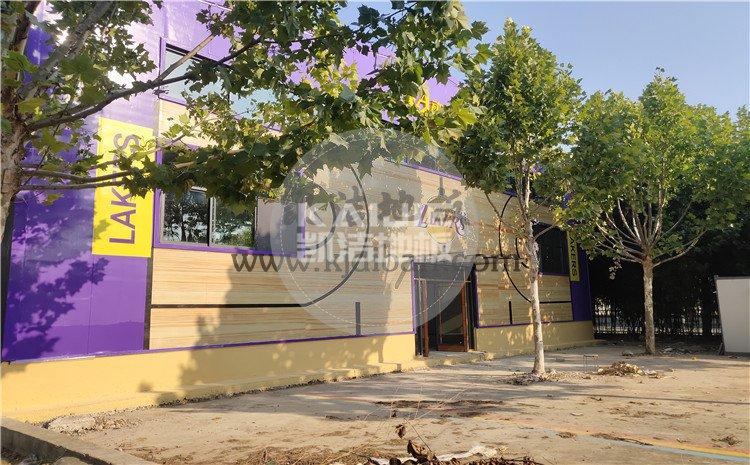 山东兰陵代村LA动力篮球馆木地板项目-凯洁体育木地板厂家