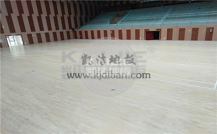 安徽宣城郎溪县体育馆木地板案例