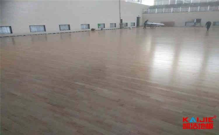 西安硬木企口体育地板施工