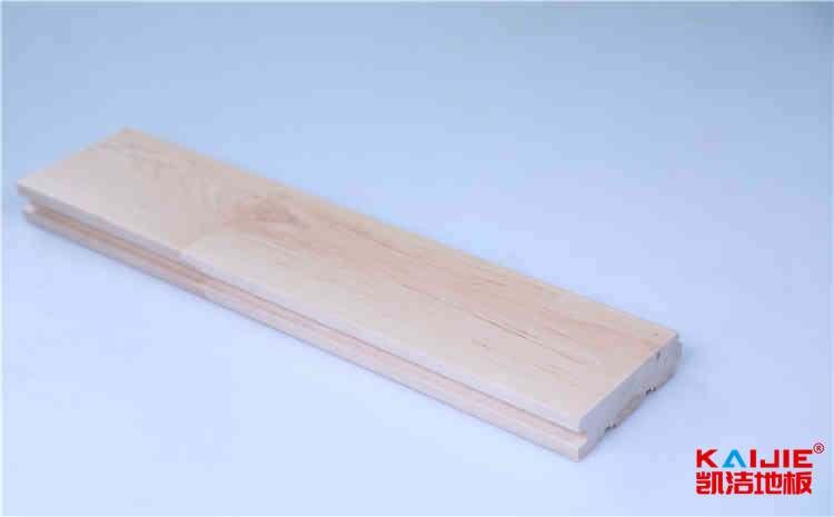 东台市室内篮球场馆专用枫桦木地板多少钱一平米——凯洁地板