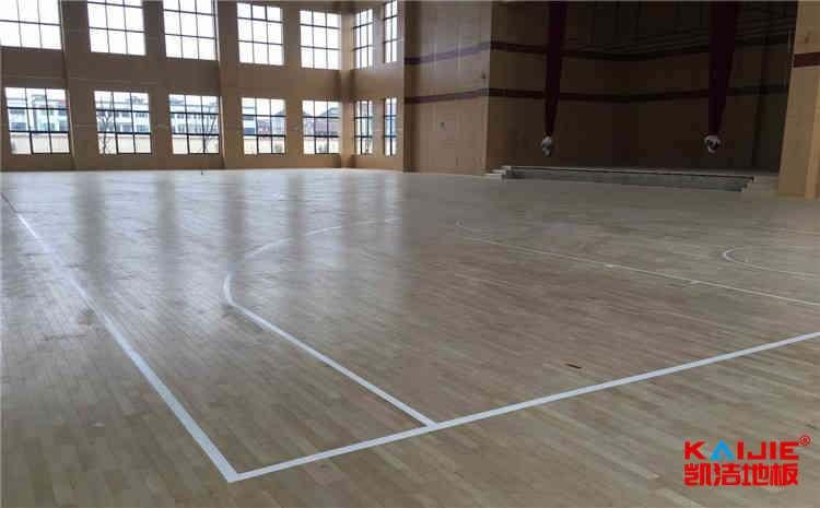 兰州枫木体育地板施工