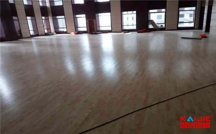 湖南体育木地板施工