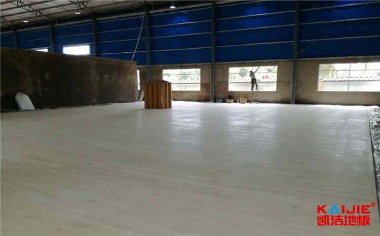 山西枫木体育地板施工