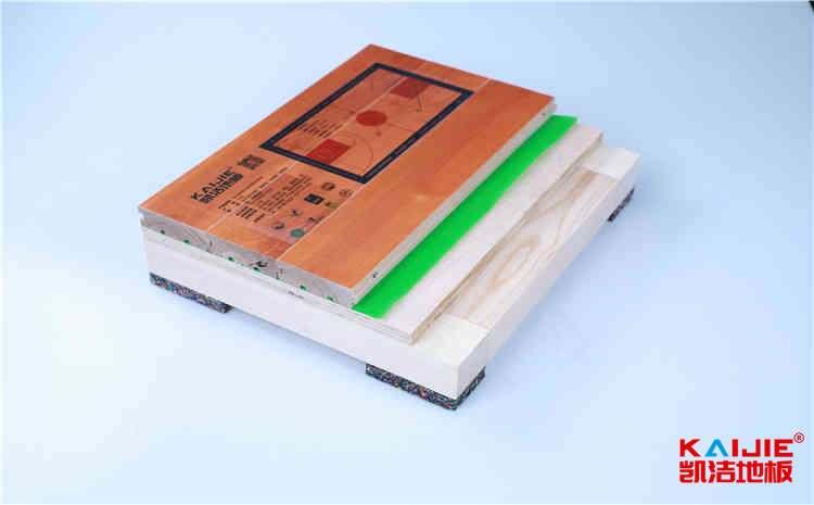 双层木龙骨运动地板构造
