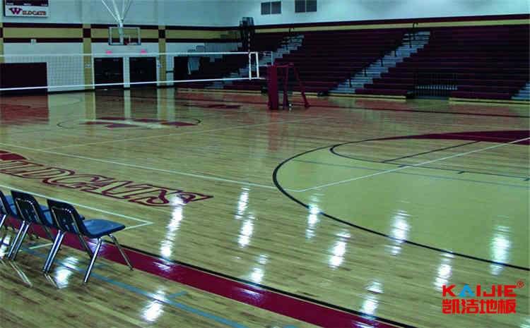 实木运动地板漆面受损该怎么处理——篮球场木地板