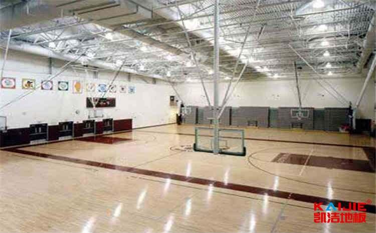 体育馆木地板安装细节
