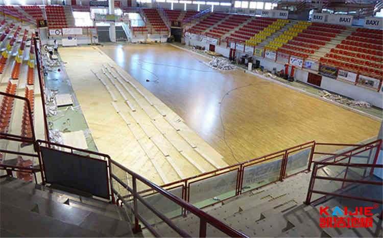 24mm硬木企口舞台木地板维修