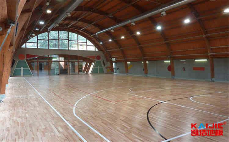 篮球木地板龙骨结构介绍——凯洁地板
