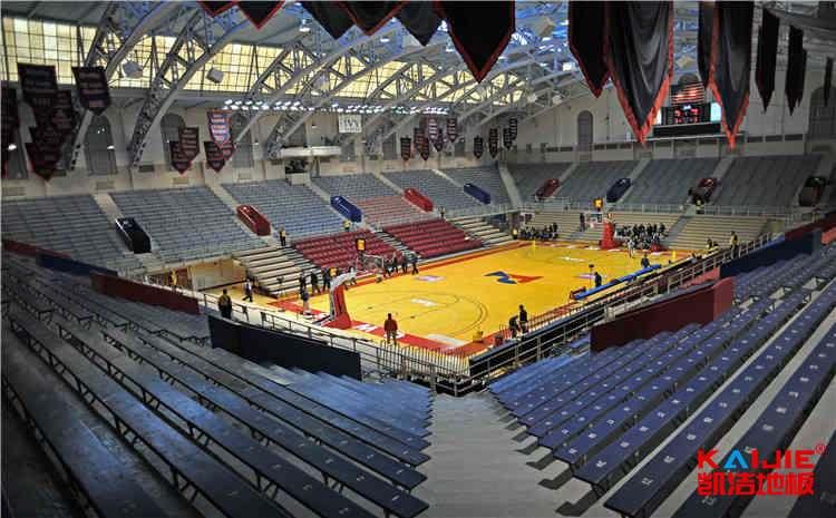 篮球馆木地板龙骨结构怎么安装——凯洁地板