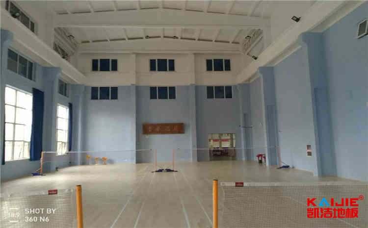 羽毛球场专用木地板结构