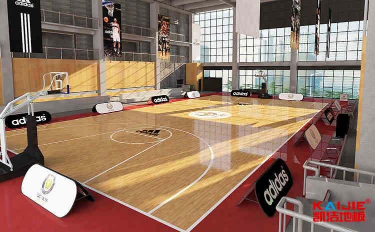 羽毛球体育地板安装
