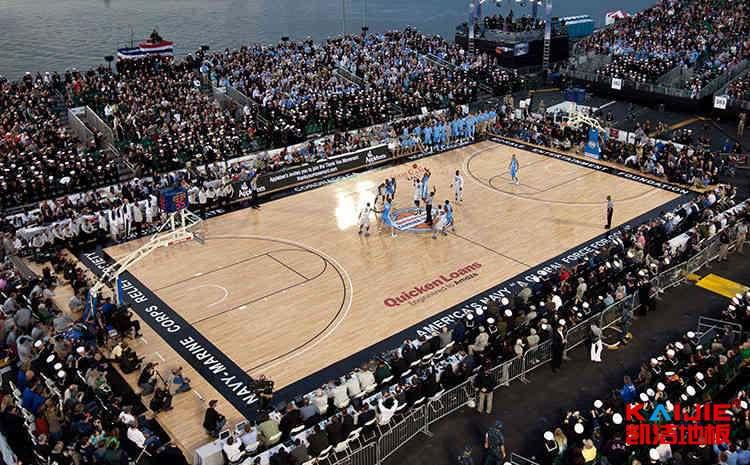 常见的篮球场木地板每平米价格