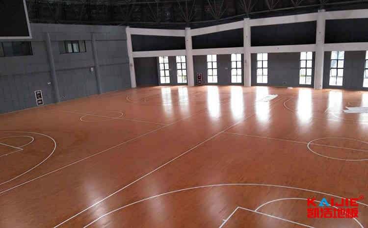 国际标准篮球场木地板划线