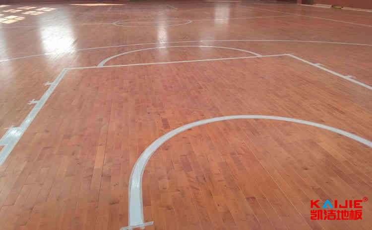 硬木企口体育场木地板厚度