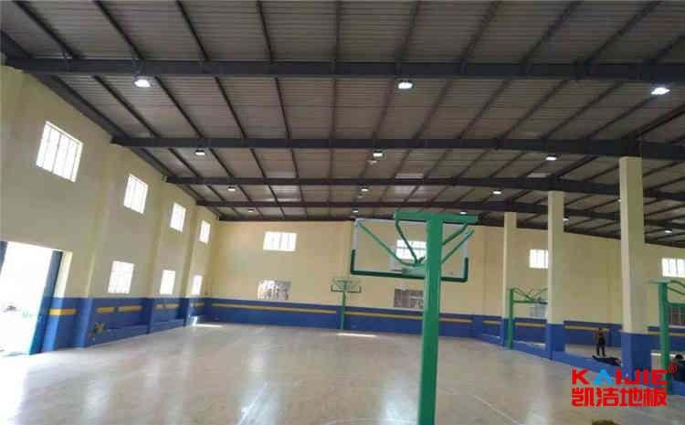 体育馆木地板厂家怎么画篮球场标准线——凯洁地板